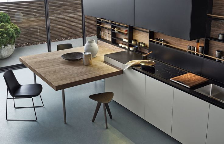 A Kitchen with Subtle and pure geometric lines
