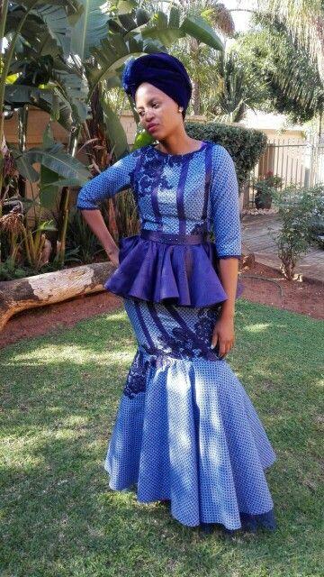 This what a modern african bride looks like #MadAboutShweshwe #makoti