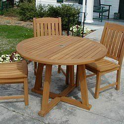 48'' Teak Outdoor Dining Table by Modern Estate. $718.00