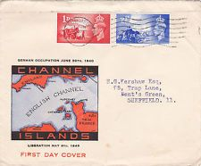GUERNSEY, GB : CHANNEL ISLANDS LIBERATION ILLUSTRATED FIRST DAY COVER (1948)