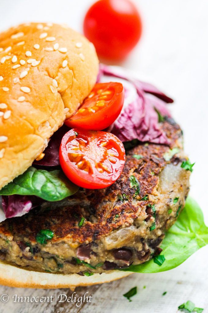 This Mushroom Black Bean Veggie Burger recipe is the best veggie burger you can ever make. Healthy, easy, super delicious and sticks together.