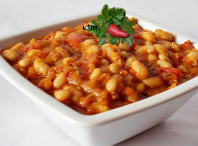 arta culinara: Mâncare din fasole boabe proaspete.