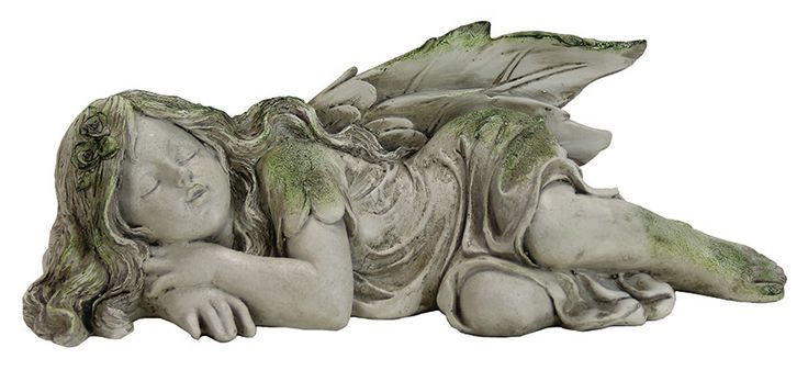 Features: -Hand-painted cast resin. -Lacquer coated for durability. -Timeless beauty for your garden or patio. Product Type: -Statue. Color: -Gray; Green. Style: -Traditional. Material: -Resin/