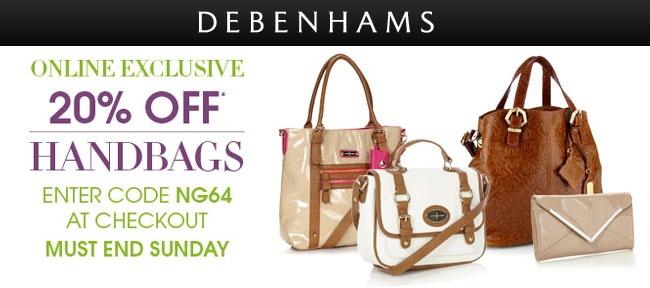 20% Off Handbags #Debenhams