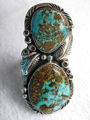 Turquoise Ring by Navajo Tom Willeto Size 8