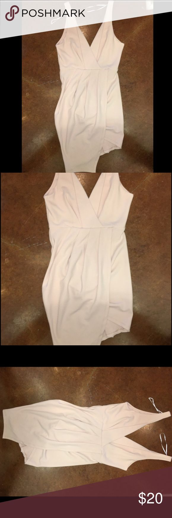 Nude Australian dress never worn size small (AUS8) Australian boutique dress in small (size 8 in AUS) in nude never worn new with tags! ardlie Dresses Asymmetrical