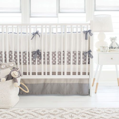 Our Gray Baby Bedding is modern and sophisticated. Our Gray Ombre Crib Collection is perfect for a gender neutral nursery!