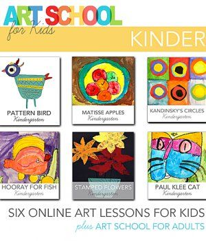 Art School for Kids: Online art videos for Kinders