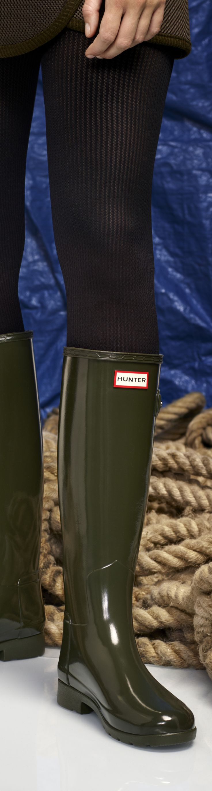 SHOP NOW Refined Footwear// Women's Original Refined Gloss Wellington Boots | Hunter introduces a new sartorial interpretation of the Original boot, presenting the Original Refined Wellington boot in a gloss finish. Creating a more tailored silhouette, key aspects of the Original boot have been redesigned.