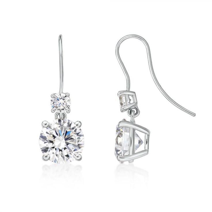 Dew Sterling Silver Claw Drop Earrings aKtfJDtcA