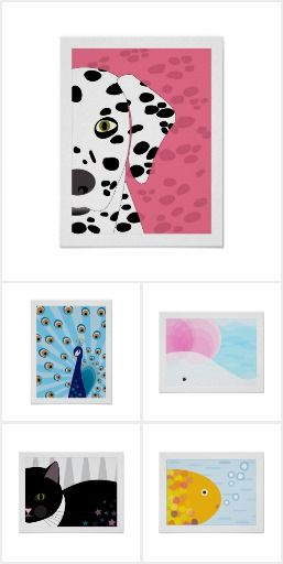 Abstract Animal Posters