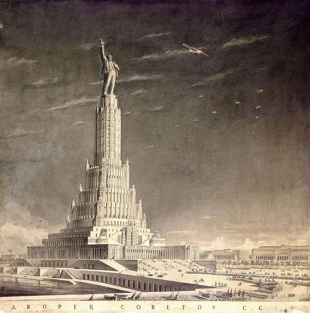 Image result for maqueta palacio soviets
