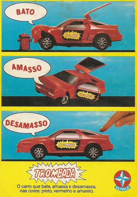 Propaganda do brinquedo Trombada, lançado pela Estrela em 1987: amassos…