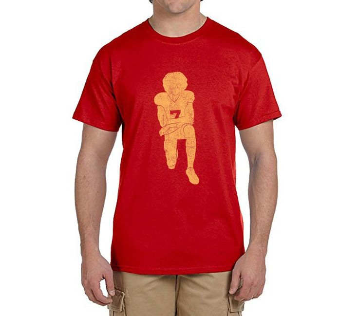 Hot Colin Kaepernick Kneeling Anthem Flag Protest 100% cotton t shirts Mens gift T-shirts for 49ers fans 0214-14