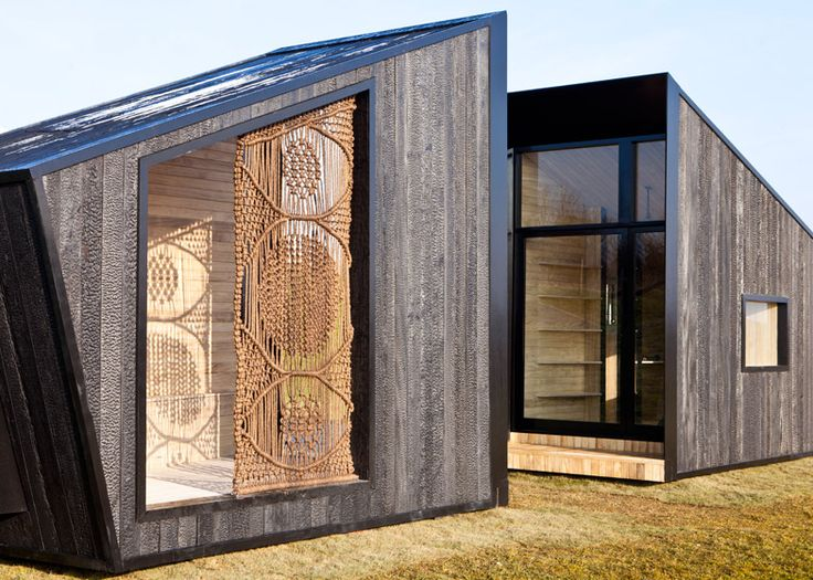 The Observatory is a mobile charred timber artist's studio by Feilden Clegg Bradley.