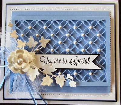 Hello there my crafty friends! The pretty periwinkle card to start the day off. I used the Eternal Rings Striplet to create the ba...