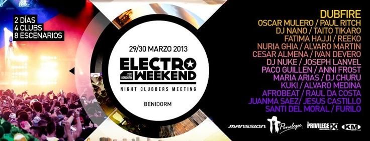Electro Weekend Benidorm (Semana Santa) pincha en el cartel para hacerte con tu pase