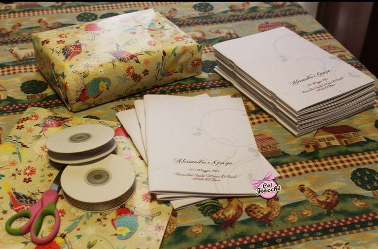 Work in progress: i libretti messa per i nostri sposi Alessandro&Grazia
