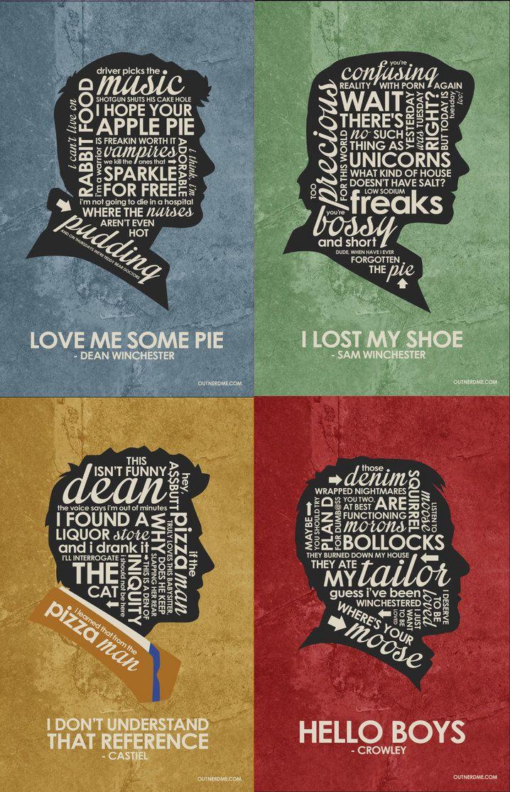 SuperNatural Inspired Quote Poster Set by outnerdme.deviantart.com on @DeviantArt