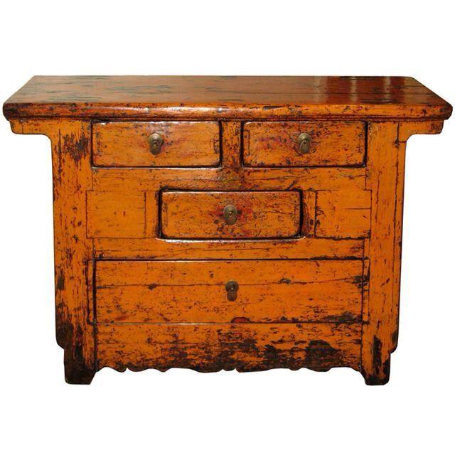 C. 1890 Shanxi Orange Chest on Chairish.com