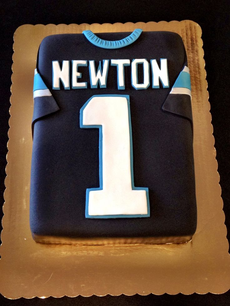 Carolina Panthers Cam Newton Jersey Cake.  Football cake.