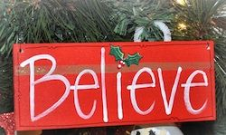 Do you believe? Place a Wooden BELIEVE Sign in your front yard to remind your neighbors that the Yuletide season is on its way. Christmas wood projects like this are great homemade Christmas decorations for your front yard or to hang in your home.