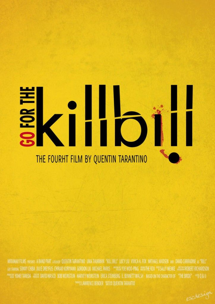 typography  http://www.facebook.com/MingleMediaCo  https://twitter.com/#!/MingleMediaCo  #socialmedia #design #letsmingle #typography #yellow #killbill: Movie Posters, Kill Bill, Typography Posters, Escdesign Deviantart Com, Design Graphics, Posters Design, Graphics Design, Cartel Design, Bill Typography