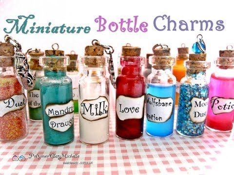 New Bottle Charms! Huge Etsy Shop Update ( and Polymer Clay Charms! ) - YouTube