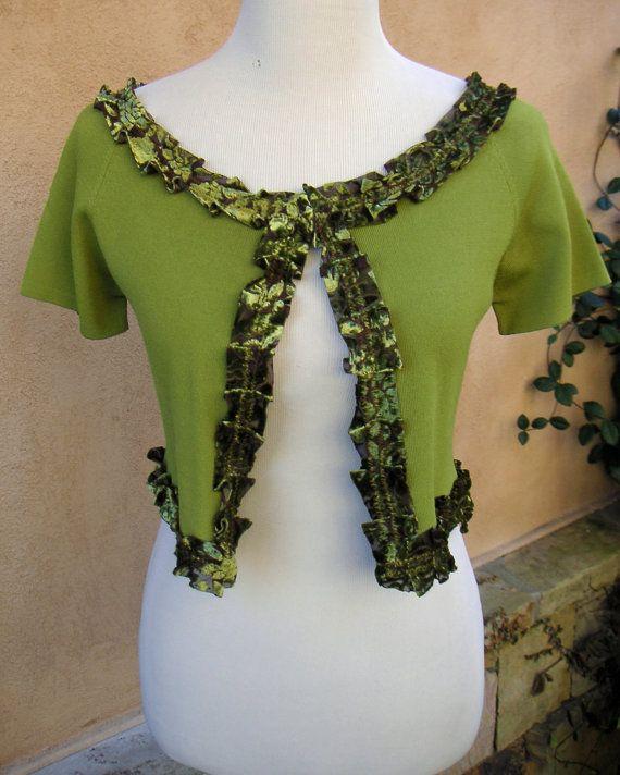 SALEWomen's Upcycled Small Bolero Sweater by EchoClothingCompany, $20.00