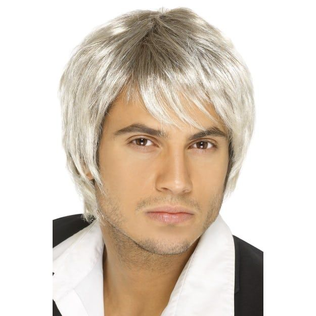 60/'S 70/'S 80/'S ADULT MENS SURFER DUDE MALE COSTUME WIG SHORT STRAIGHT HAIR MODEL