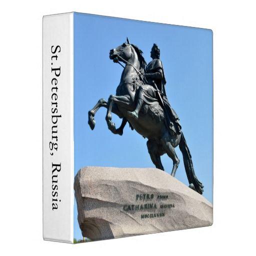 Bronze Horseman Binder. Equestrian statue of Peter the Great in Saint Petersburg, Russia also known as Bronze Horseman