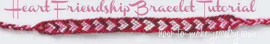 Heart Friendship Bracelet Tutorial on How-to-Make-Jewelry.com