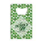 St Patricks Day PARTYWARE Shamrock - EDIT TEXT Credit Card Bottle Opener #stpatty #stpatricksday