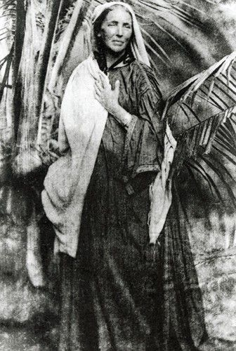 Marianne North (1830-1890)at her home in Ceylon
