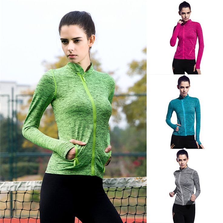 Cool Style Long-sleeved Sports T-shirt Zipper Collar Jacket For Gym Fitness Running Jogging Yoga Exercise Breathable Shirt