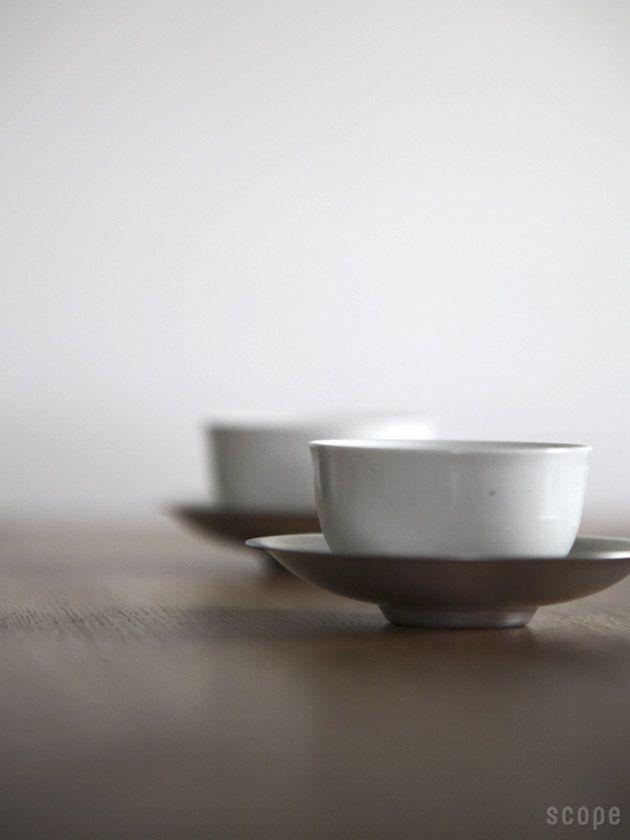 東屋 (あづまや) /  汲み出し湯呑み、茶托