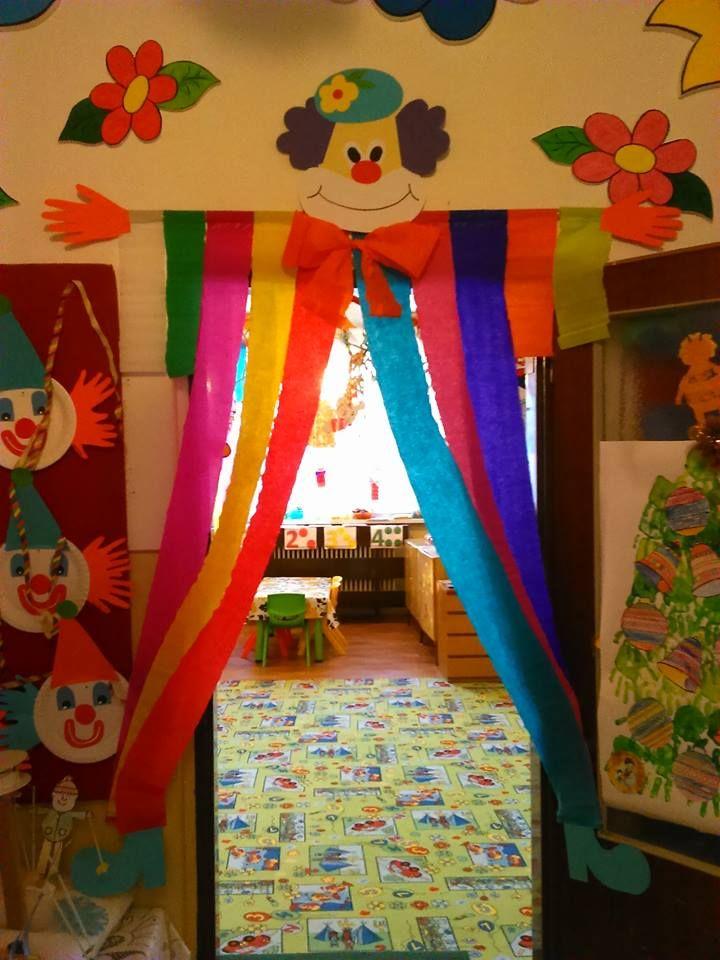 Porte de classe thème cirque