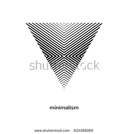 Geometric element, symbol. Creative logo for architecture company. Vector illustration. Minimal design.  Isolated shape.