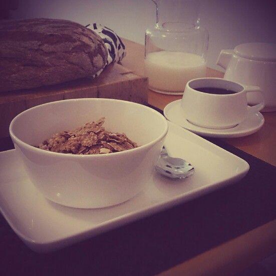 Breakfast setting using Marc Newson by Noritake