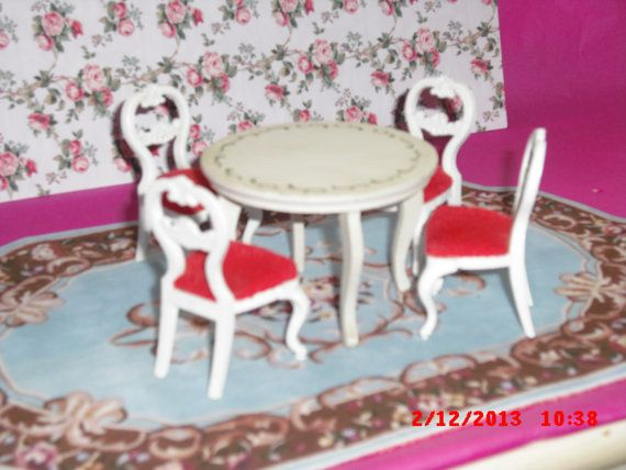 Lundby dolls house Dining chairs an table  by VintageLundbyLove, £15.00