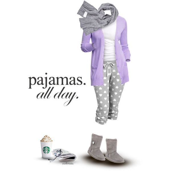 """""""Pajamas All Day"""" by archimedes16 on Polyvore"""