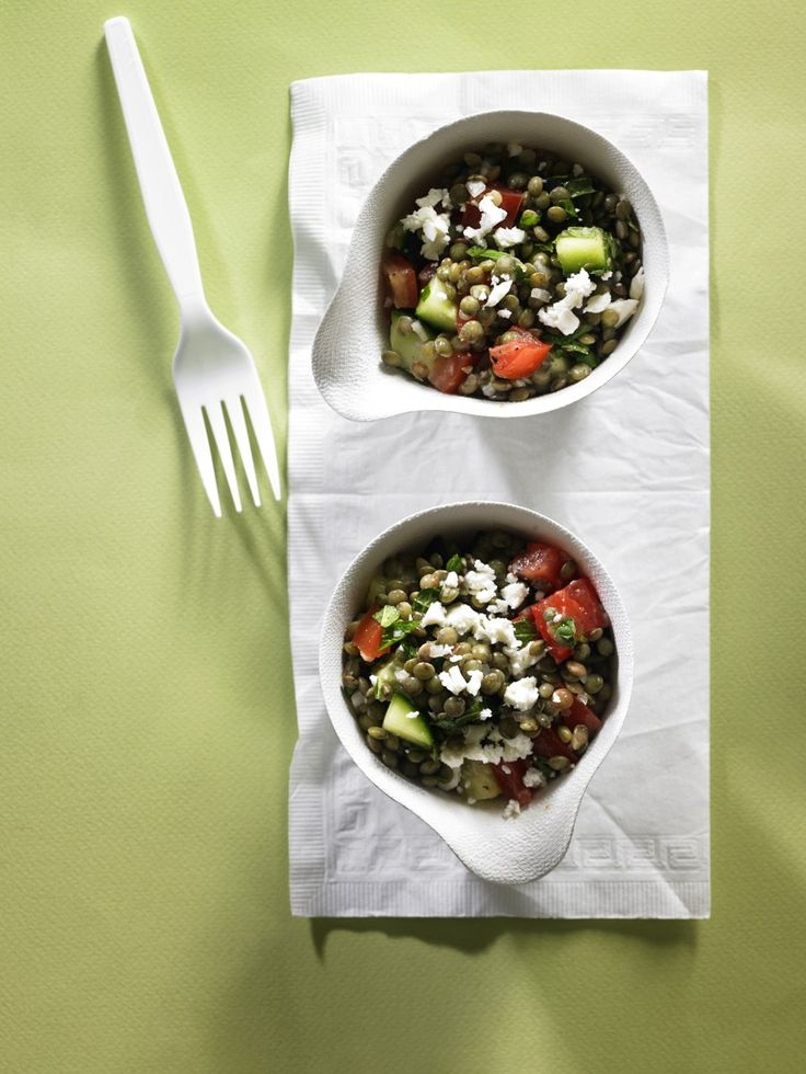 Try this salad as a take-along lunch or a light dinner. Unlike most dried beans, lentils don't need to be soaked before cooking, but they still offer all the same protein and fiber benefits. Greek Lentil Salad, 3.5 out of 4 based on 4 ratings