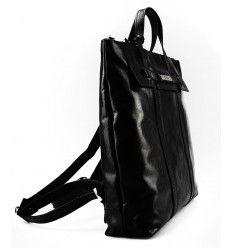 Flot rygsæk/håndtaske fra The Monte i sort kalveskind - 51061