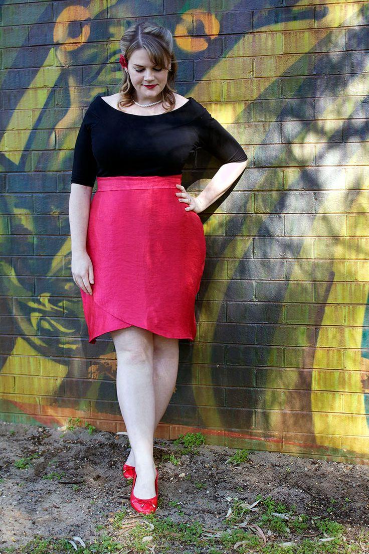 snapdragon pencil skirt plus size pdf sewing pattern