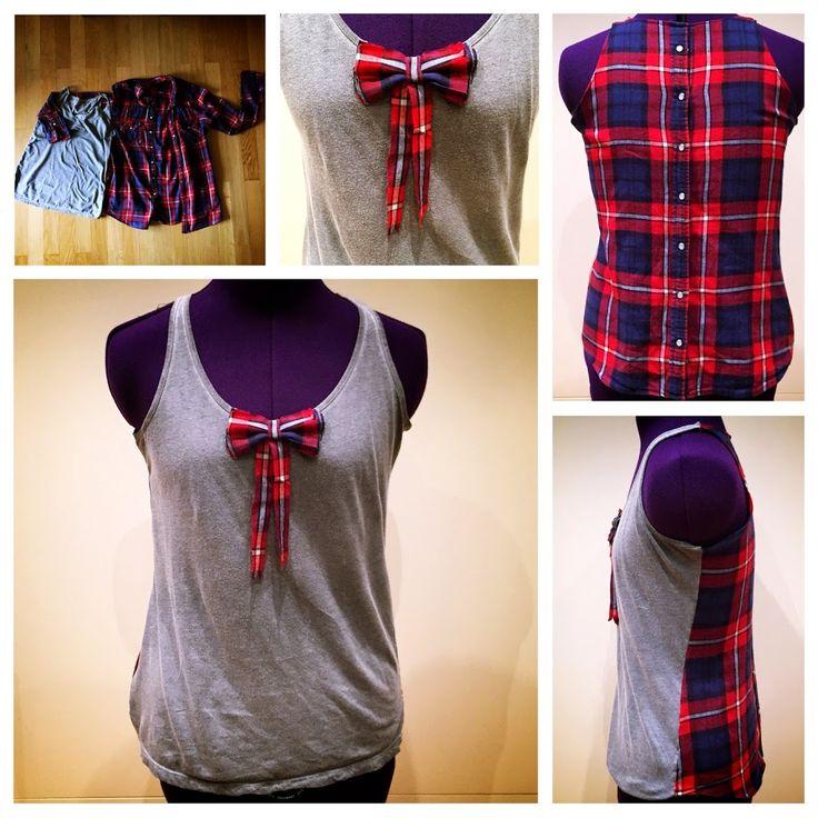 Ich zeige euch, wie euch eine Hemd Refashion aus einem alten Lieblingshemd gelingt. Ein altes Hemd wird zum sommerlichen Tanktop.