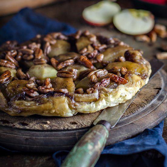 Apple Maple and Pecan Tarte Tatin