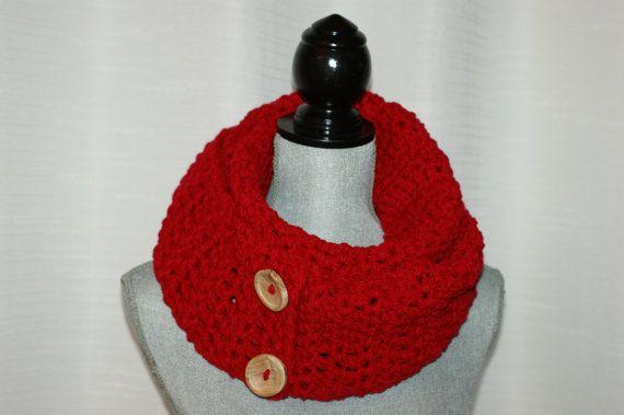 ROUGE foulard infini  rouge infini de par LesBijouxLibellule