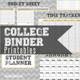Gratifying image intended for college organization printables