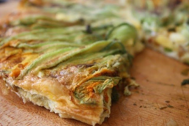 frittata recipe on food52 squash blossom and garlic frittata squash ...