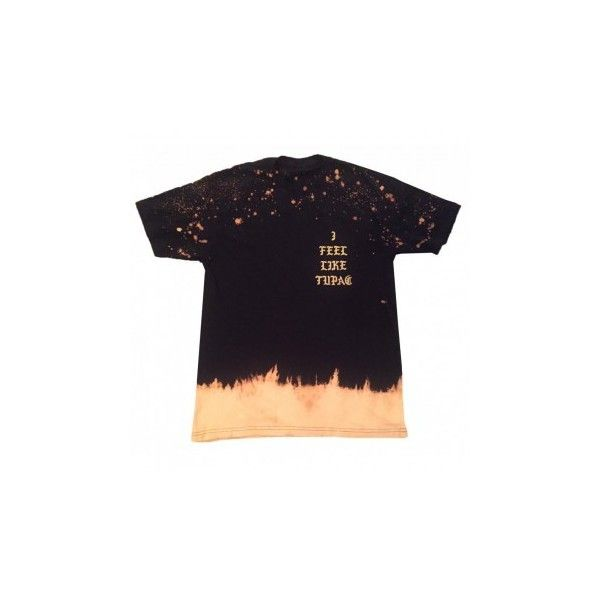 Feel Like Tupac Vintage Bleached T-Shirt ($45) ❤ liked on Polyvore featuring tops, t-shirts, vintage t shirts, bleach t shirt, vintage tops and vintage tees